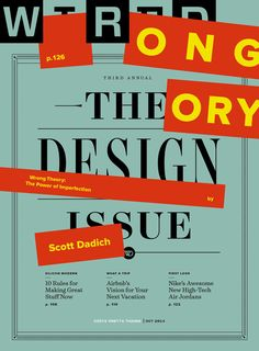 Wired design issue — Creative Director: Billy Sorrentino, Illustration: Oliver Munday