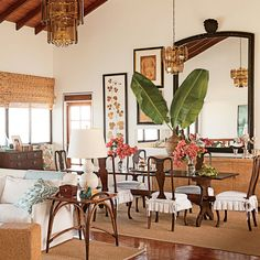 Mix Dark and Light - Our 60 Prettiest Island Rooms - Coastal Living