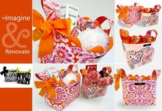 cute fabric baskets