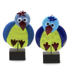 Billedresultat for glaskunst fugle