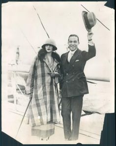 Natacha Rambova and Rudolph Valentino.
