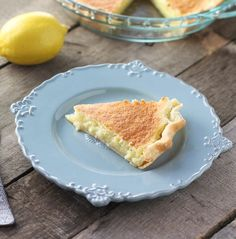 Lemon Sponge Pie - Light, airy and a breeze to throw together.
