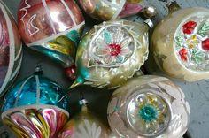 . vintage ornaments .