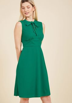 Archival Arrival A-Line Dress in Clover
