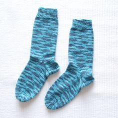 Knitted Socks cotton greyturquoise Size US 65 UK 4 by Gigi82Knits, $20.00