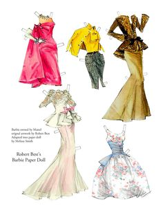 AshLeY _ Vintage Best Barbie Paper doll 2 (It's so beautiful paper-doll.)
