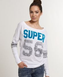 Superdry women's Double Number Burnout t-shirt.