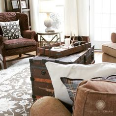 What's On Your….. Coffee Table | http://www.domesticcharm.com/whats-on-your-coffee-table/