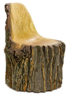 """""""Log Type-E"""" recreates the Eames shell chair in wood Rustic Log Furniture, Wood Furniture, Western Furniture, Furniture Design, Chair Design, Log Chairs, Log Benches, Log Stools, Wood Log Crafts"""
