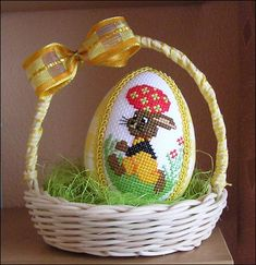 Пасхальное яйцо вышивка