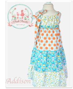 Girls PDF Sewing Pattern Dress Pattern The by pinkpoodlebows, $6.00