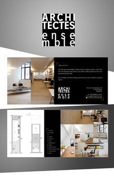 Architectes Ensemble - Création du logo -  Flyer Ui Design, Typography Design, Entrance, Desktop Screenshot, Photoshop, Logo, Architects, Graphic Design, Projects