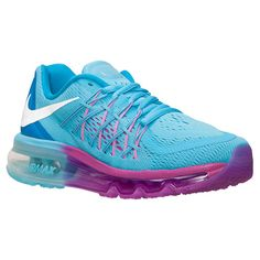 Girls' Grade School Nike Air Max 2015 Running Shoes | Finish Line | Clearwater/White/Blue/Fuschia Flash