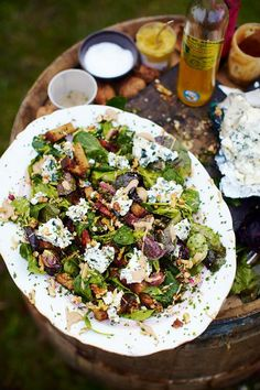 Roquefort salad | Jamie Oliver Recipes  INGREDIENTS: http://www.jamieoliver.com/recipes/cheese-recipes/roquefort-salad-with-warm-croutons-and-lardons/