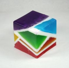 Stained Glass Block of Soap  rainbow custom colors by WizardAtWork, $6.00