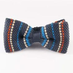 Pre-Tied Knit Bow Tie Bright, $29, now featured on Fab. Interesting ties and tie clips. Proceeds help purchase school supplies.