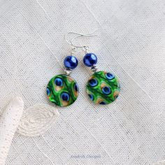 Peacock earrings  Unique Gifts for women  Gifts by AnukritiDesigns