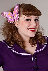 Now, Voyager Bright Butterfly Fascinator-Lilac