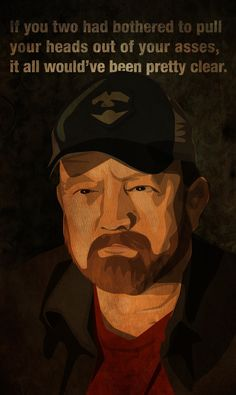 Bobby Singer, Tall Tales, keeping it real, as always Supernatural Bobby, Supernatural Seasons, Bobby Singer Quotes, Tall Tales, Sci Fi Fantasy, Destiel, Superwholock, Super Funny, Cartoon Drawings