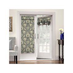 Waverly Clifton Hall French Door Curtain, Grey