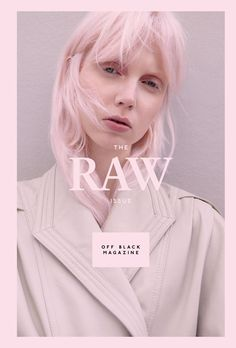 Off Black Magazine – The Raw issue. Creative Direction and design by Bonnevier Ainsworth. Cover photography by Johanna Nyholm. Magazine Layout Design, Magazine Cover Design, Magazine Layouts, Editorial Design Magazine, Creative Photography, Fashion Photography, Photography Ideas, Photography Magazine, Stunning Photography