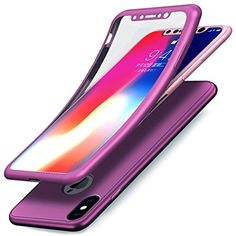 promo code 740ee 281d8 Coque iPhone XEtui iPhone XCoque iPhone X EtuiIntégral 360 Degres Full Body  Protection Etui Film Protection