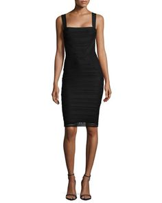 Tracy Reese  Square-Neck Lace Sheath Dress