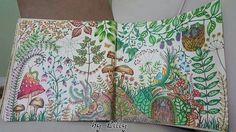 Floresta encantada / Floresta encantada página dupla / Floresta encantada cogumelos / Floresta encantada porta / jardim secreto/ johanna basford