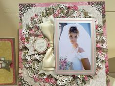 Anna Griffin Project CHA Winter 2015 - Scrapbook.com like the giant ruffled doily cut.