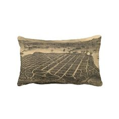 Vintage Pictorial Map of Coronado Beach (1880) Pillows from Zazzle.com $52.00