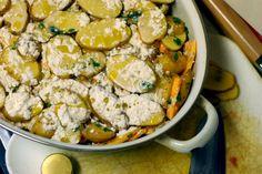 Paula Wolfert's Butternut Squash and Potato Pie with Tomato, Mint and Sheep's Milk Cheese - The Wednesday Chef