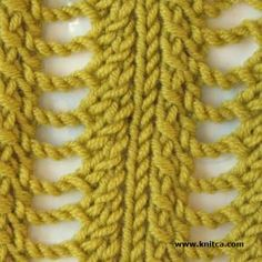 Right side of knitting stitch pattern  Lace 9 ... The great thing about this stitch collection is the right AND wrong side photos.