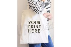 A168 Canvas Tote Bag Mock Up by UpStyled on Creative Market