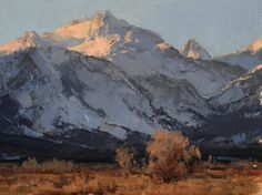 """""""Blanketed Peaks"""", oil, 12"""" x 16"""" Bill Anton"""