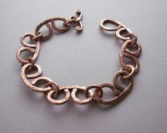 Copper chain bracelet handmade metalwork copper by copperryfields