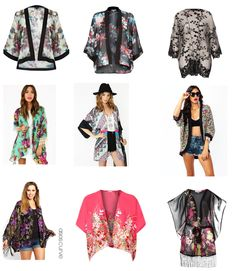 Spring and Summer fashion trend. Kimono Outfit, Boho Kimono, Kimono Fashion, Fashion Dresses, Kimono Jacket, Teen Girl Fashion, Love Fashion, Fashion Beauty, Womens Fashion