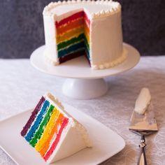 Découvrez la recette Rainbow cake facile sur cuisineactuelle.fr.