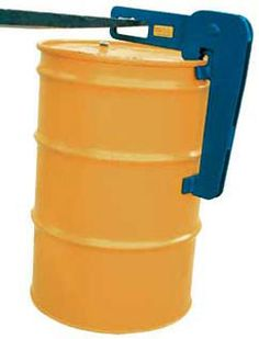 """Fork/Chain Drum Lifter. Model DL may be used to lift 30 and 55 gallon steel drums with either an overhead chain or fork truck. Hook opening measures 4""""W x 2""""H.Units are made of steel and include a powder-coat finish. Specs: capacity 1,500 lbs"""