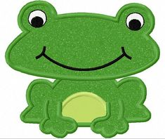 Frog Applique Machine Embroidery Design NO1121 by JoyousEmbroidery, $2.99