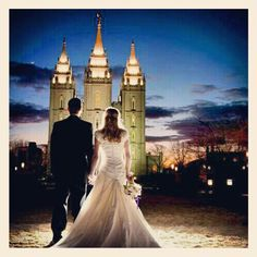 Would love to take a picture like this afterwards. This is the Salt Lake City Utah, LDS  Temple