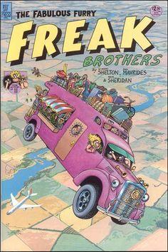 The Fabulous Furry Freak Brothers by Gilbert Shelton Underground Comics, Bd Comics, Funny Comics, Fat Freddy's Cat, Gilbert Shelton, Vintage Comics, Comic Artist, Comic Covers, Comic Character