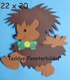 Teddys Fensterbilder 146  ` laufender Igel ´ Tonkarton