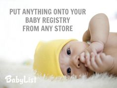 I'm loving this website that lets you put anything on your baby registry from any store. It works like Pinterest!