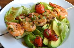 When you are in a rush and still want something healthy to eat, this Lemon-Chili Grilled Shrimp Salad will be perfect for dinner.