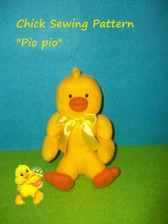 """Tutorial PDF Sewing Baby Chick soft Pattern  