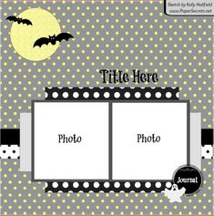 Day 4 of FRIGHTFULLY Creative Halloween FUN! Scrapbook Layout Sketches, Scrapbook Templates, Scrapbooking Layouts, Scrapbook Pages, Halloween Scrapbook, Halloween Cards, Halloween Themes, Halloween Fun, Photo Sketch