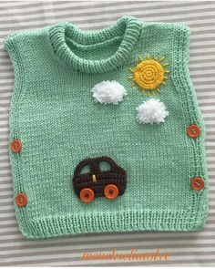 Baby Boy Knitting, Knitting For Kids, Crochet For Kids, Crochet Baby Cardigan, Knit Baby Sweaters, Knit Crochet, All Star Bebe, Toddler Sweater, Kids Gown