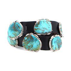 Rocki Gorman Kingman Turquoise Concho Belt www.maverickstyle.net