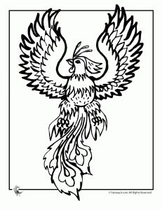 9 mythical creatures coloring pages fauns minotaurs and the phoenix print from site
