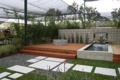 Minimalist Modern Landscape Design With A Fishpond :DIY